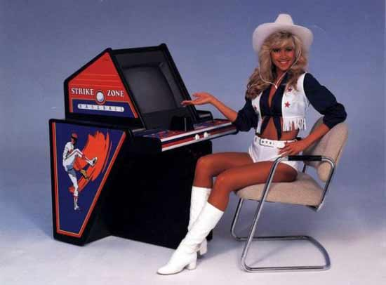 80's arcade machines girls