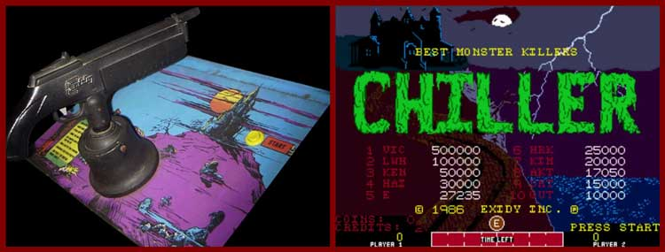 Chiller, 1986, Exidy, blood, kill