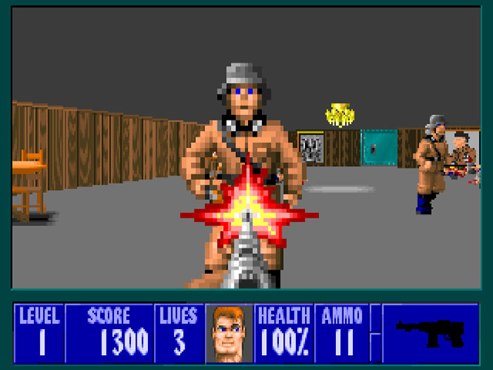 Wolfenstein 3D, nazi, shooter, labirynth