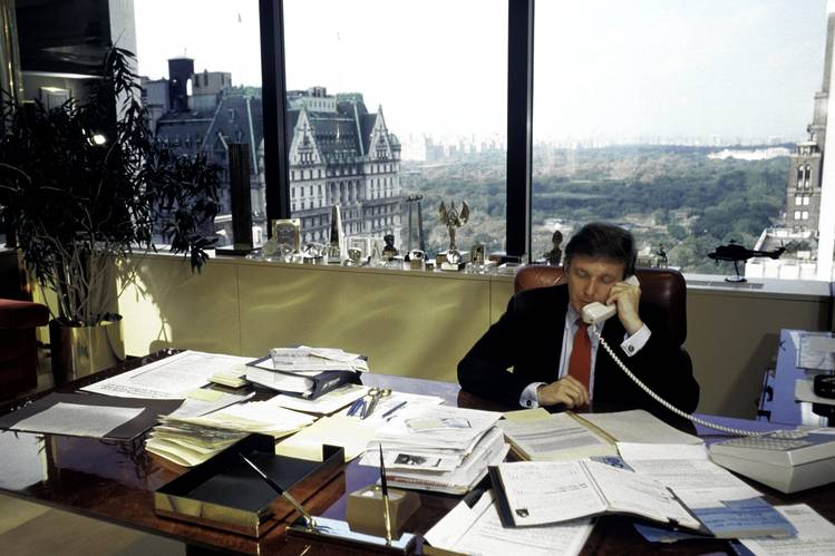 donald trump in trump tower office